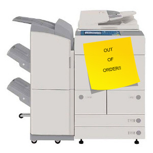 Out of order Copy Machine